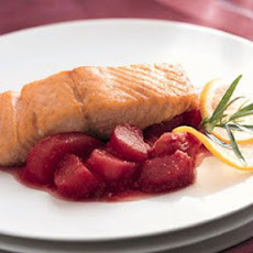 Roasted Salmon and Rhubarb