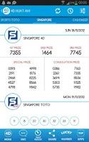 Screenshot of 4D Huat Ah! Results (MY & SG)