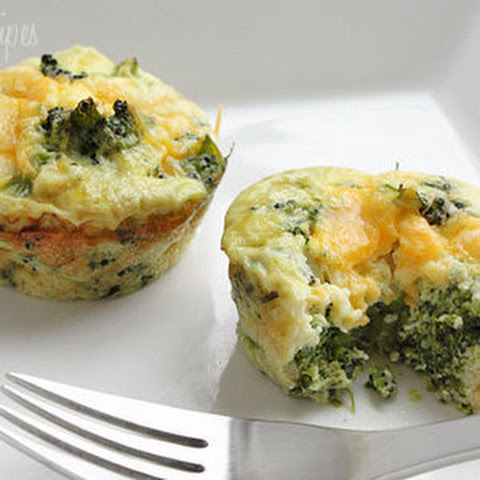 Broccoli and Cheese Mini Egg Omelets from Skinnytaste.com