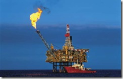 Gas Flare Oil Rig