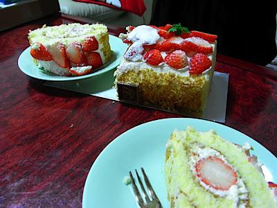 Tarta de fresa イチゴロールケーキ Strawberry roll cake