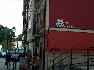 Pixel graffiti Bilbao ドット絵グラフィティ ビルバオ