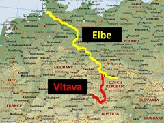 Elbe Vltava Route Caption
