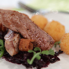 Pan-fried Duck With Goat's Cheese Bon Bons