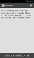 Screenshot of micro Journal