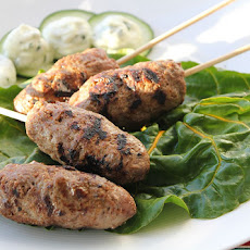 Spicy Beef Koftas With Chickpea Puree