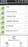 Screenshot of My Favorite Contacts