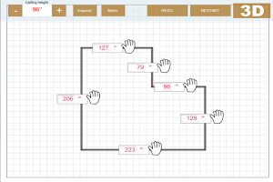Screenshot of Udesignit Kitchen 3D planner