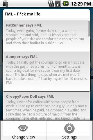 FML F*ck my life + widget
