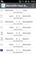 Screenshot of Marseille Foot News