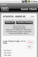 Screenshot of Zaxby's