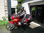 vollgepacktes Motorrad