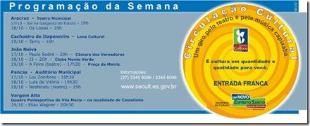 Programção Circulação Cultural - 17 a 19.10
