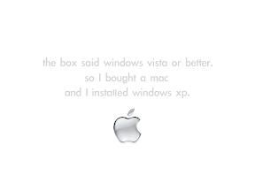 I bought a mac