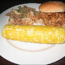 Crock Pot Old South Pulled Pork on a Bun