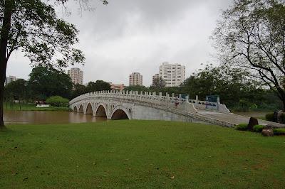 Bridge into garden