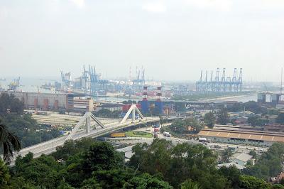 Jurong Hill towards Jurong Island