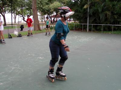 Roller blading East Coast Park