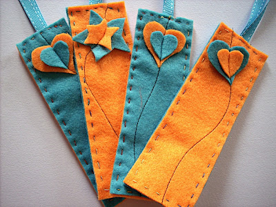 Felt bookmarks for party bags sewn up for Diy bookmarks for guys