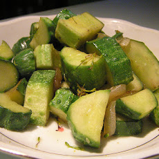 Danish Pickled Cucumbers (Syltede Agurker)
