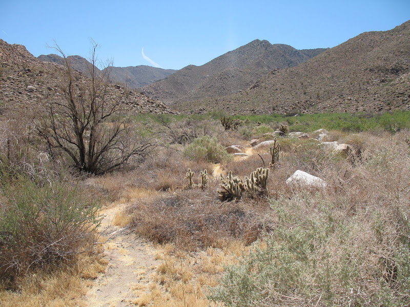 Carrizo Gorge Trail heading towards Goat Canyon