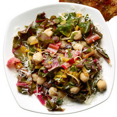 Warm Two-Bean Chard Salad