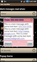 Screenshot of Sms Notifier