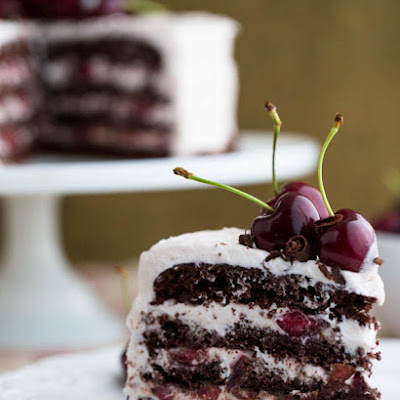 Drunken Cherry Chocolate Cake