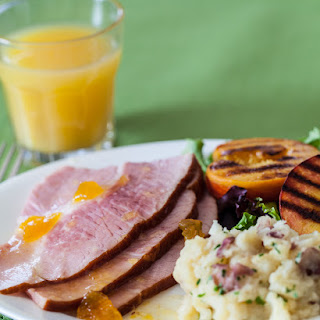 Easter Ham with Grilled Peaches