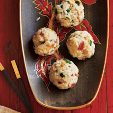 Sticky Rice Balls with Sausage and Dried Shrimp