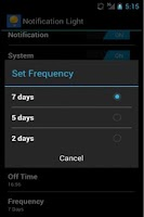 Screenshot of Notification Light Widget