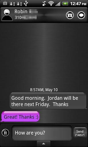 GO SMS THEME PURPLE i5