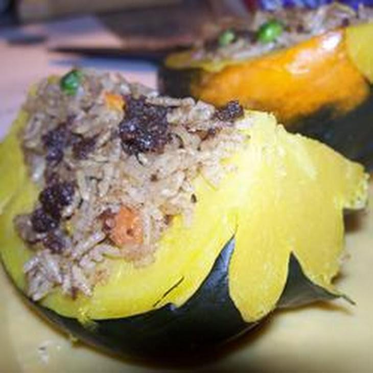 bulgur stuffed acorn squash roasted acorn squash with quinoa and red ...