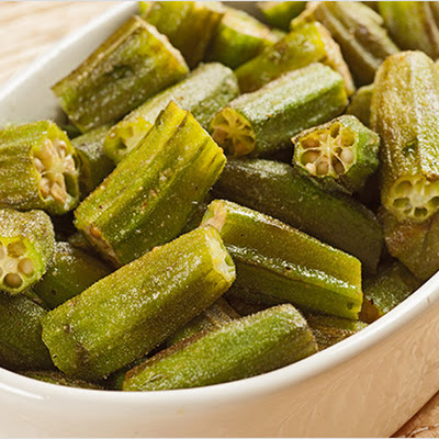 Oven-Roasted Okra