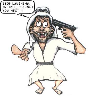 Johnny Jihad Cartoon, suicide Gunman