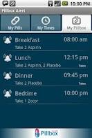 Screenshot of Pillbox Alert