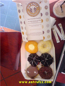 The yummy donuts from Big Apple Donuts & Coffee
