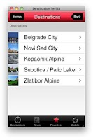 Screenshot of Serbia Destination