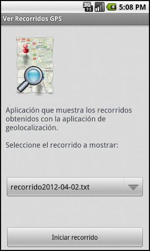 Ver Recorridos GPS