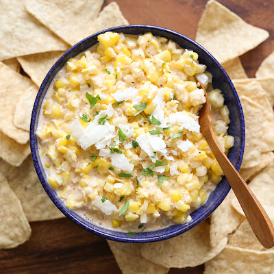 Elote {Hot Mexican Corn Dip}