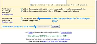activar https para que tu navegacion en gmail sea segura