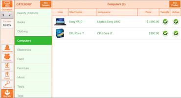 Screenshot of Instant Cash Register