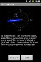 Screenshot of JediClock - Blue