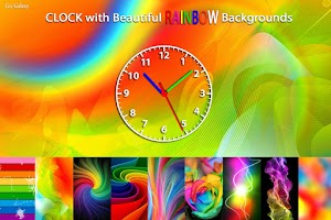Screenshot of Rainbow Clock