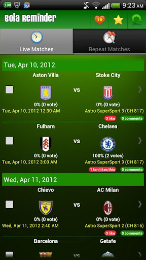 bola-reminder-malaysia for android screenshot