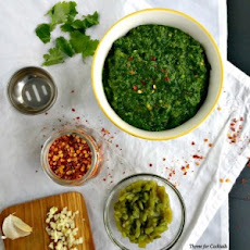 Spinach Green Chile Chimichurri