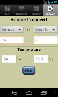 Screenshot of Aquarium Calculator