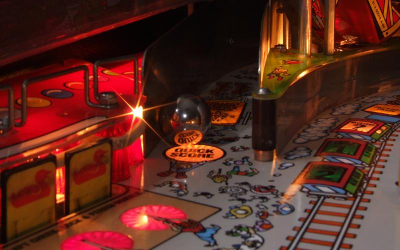 Pinball closeup