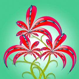 by Dipali S - Illustration Flowers & Nature ( abstract, creation, nature, pattern, flora, illustration, wallpaper, artistic, print, design, flower )