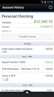 Screenshot of Service CU Mobile Banking